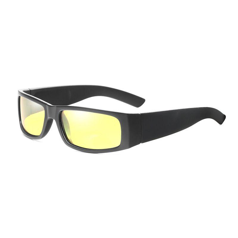 1a6a4e0925 Compre Lente Amarilla Gafas De Sol Hombres Mujeres Rectángulo Pequeño Gafas  De Sol Para Damas Varones Moda Tamaño Pequeño Vintage Gafas UV400 Oculos A  ...