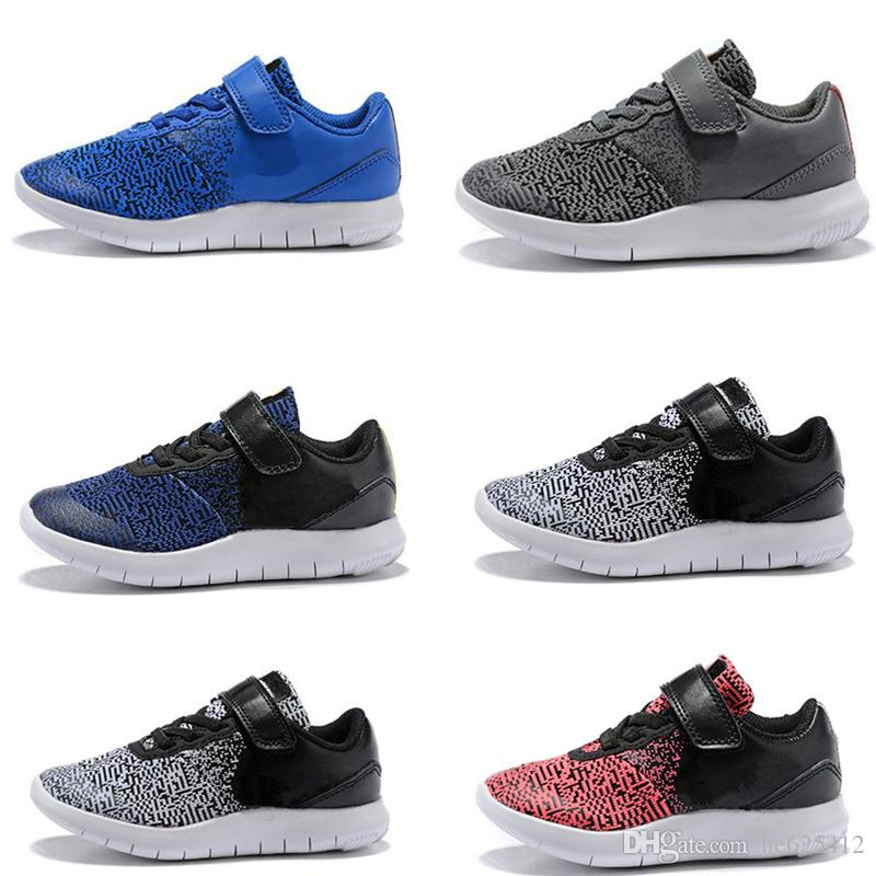 307e8989e34c1 Infant Boys Girls Flex Contact Trainers High Quality Toddler Kids Running  Shoes Black White Blue Baby Sports Sneakers Boys White Athletic Shoes Trail  Shoes ...