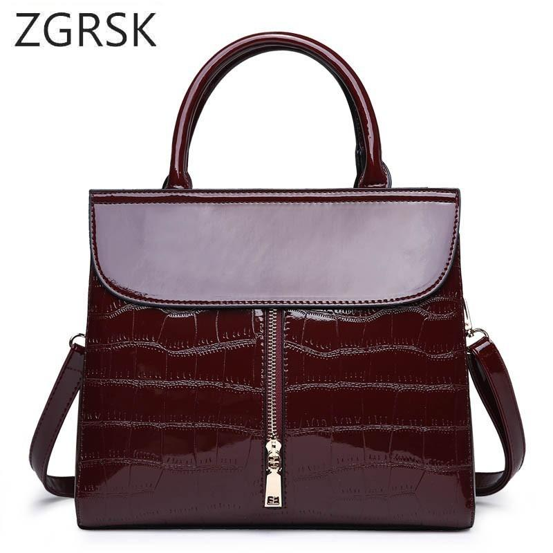 Crocodile Leather Handbags Luxury Pattern Leather Crossbody Bag Women  Famous Designer Shoulder Messenger Bag Ladies Hand Bags Leather Goods Branded  Bags ... 6ae36abb36552