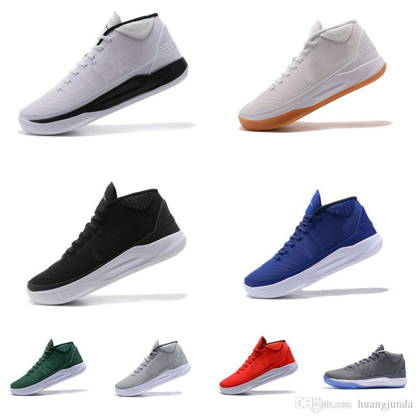784301a5f868 2019 Cheap New Men Kobe AD MID Basketball Shoes Team Red Blue Green Cool  Grey Black White Gum KB 12 Elite Sneakers Boots Tennis For Sale With Box  From ...