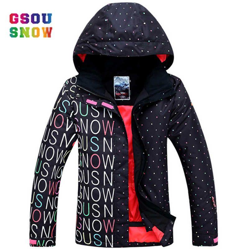 GSOU SNOW Ski Jacket Women Outdoor Professional Snowboard Coats ... 7e6447e130d5
