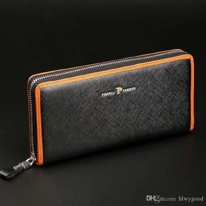 Baellerry novo produto bolsa de mão masculino comércio exterior lazer carteira dos homens longo zíper mão saco de mão saco atacado.