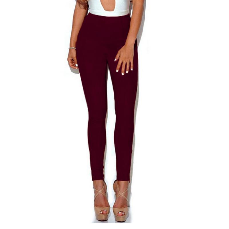 159325e5a Womens Suede Pants High Waist Skinny Stretch Slim Pant Ladies Casual Fit  Pencil Pants Chamois Trouser For Women