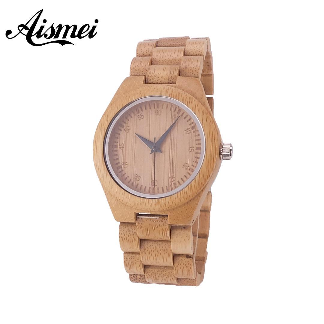 Großhandel 2018 Neue Volle Holz Damen Armband Uhren Bambus Kreative