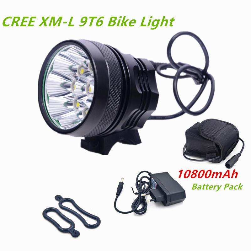 Lights & Lighting Responsible Led Flashlight 9 Led 12000lm Rechargeable 18650 Battery Cycling Light Torch