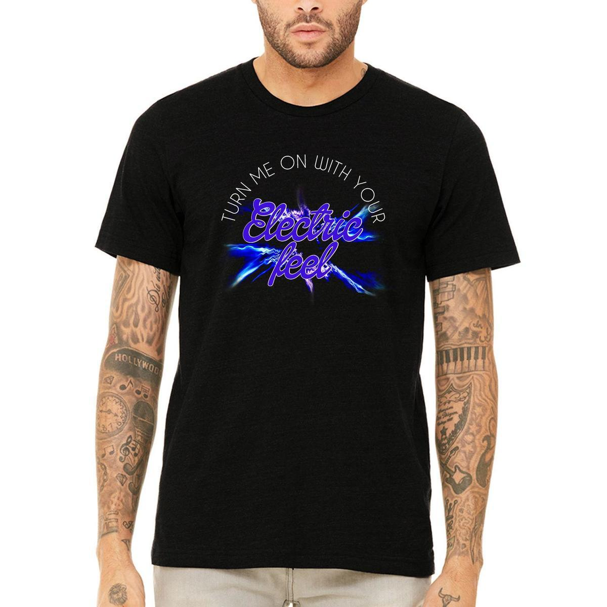 4ad1601d24112 Misky   Stone Turn Me On With Your Electric Feel Vibrant Unisex T Shirt  TeeMens 2018 Fashion Brand T Shirt O Neck 100%cotton T Shirt T Shirt T Tee  Shirts ...