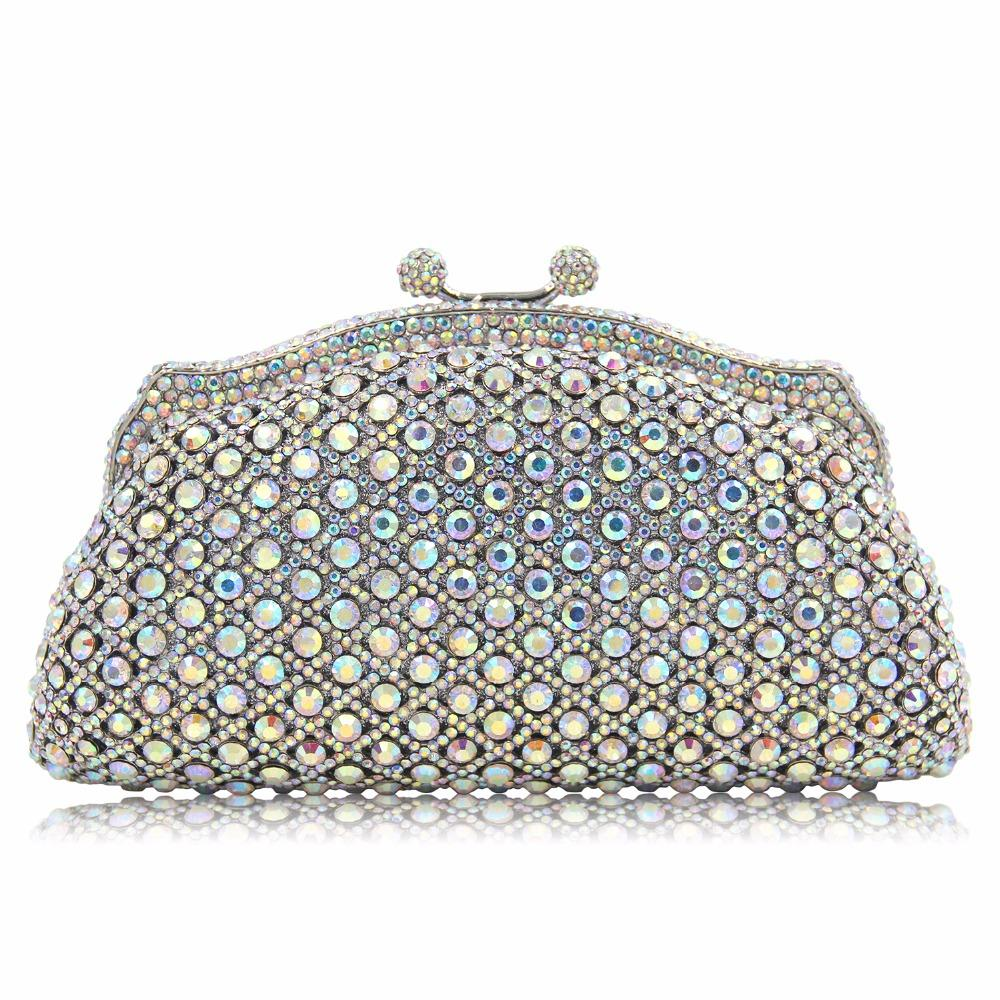 NATASSIE New Women Clutches Evening Bag Luxury Diamonds Wedding Crystal Clutch Bags Party Leather Purse
