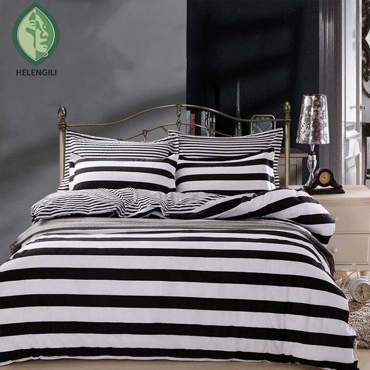 Striped Bedding Sets Twin Queen Full Zebra Black And White Blue
