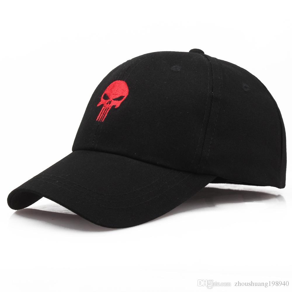 0c8a497d New The Punisher Men Black Cool Skull Baseball Sport Caps Men Hero  Adjustable Amazing Black Skeleton Caps Hat
