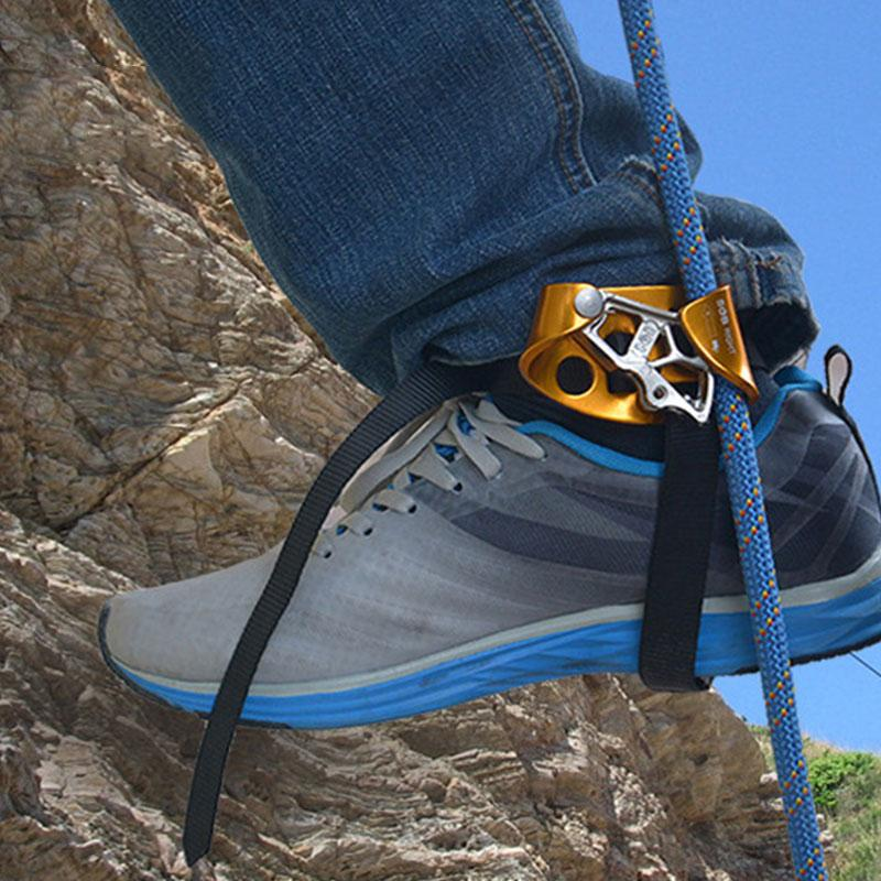 33880fd9cb2efc Großhandel Rechter Fuß Ascender Riser Fassen Felsen Bergsteiger Ausrüstung  Klettern Ascender Cavin Gerät Anti Drop Protector Zubehör Von Dhtop1shop