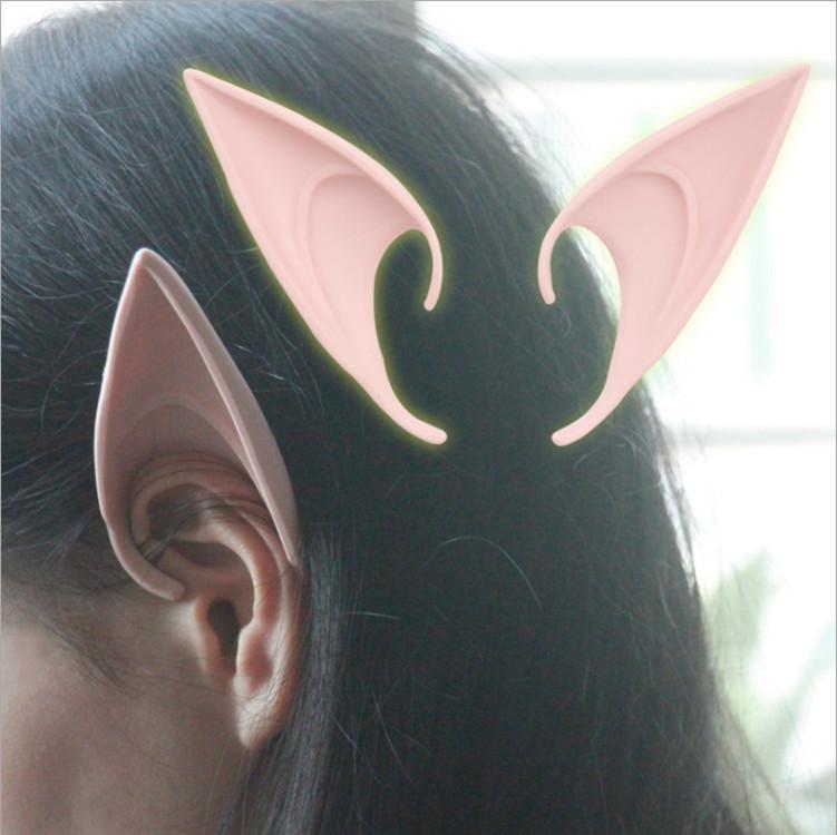 新しいELFの耳の怖いハロウィーンパーティーのマスクはかなり衣装コスプレパーティーマスクの柔らかい耳速い配達