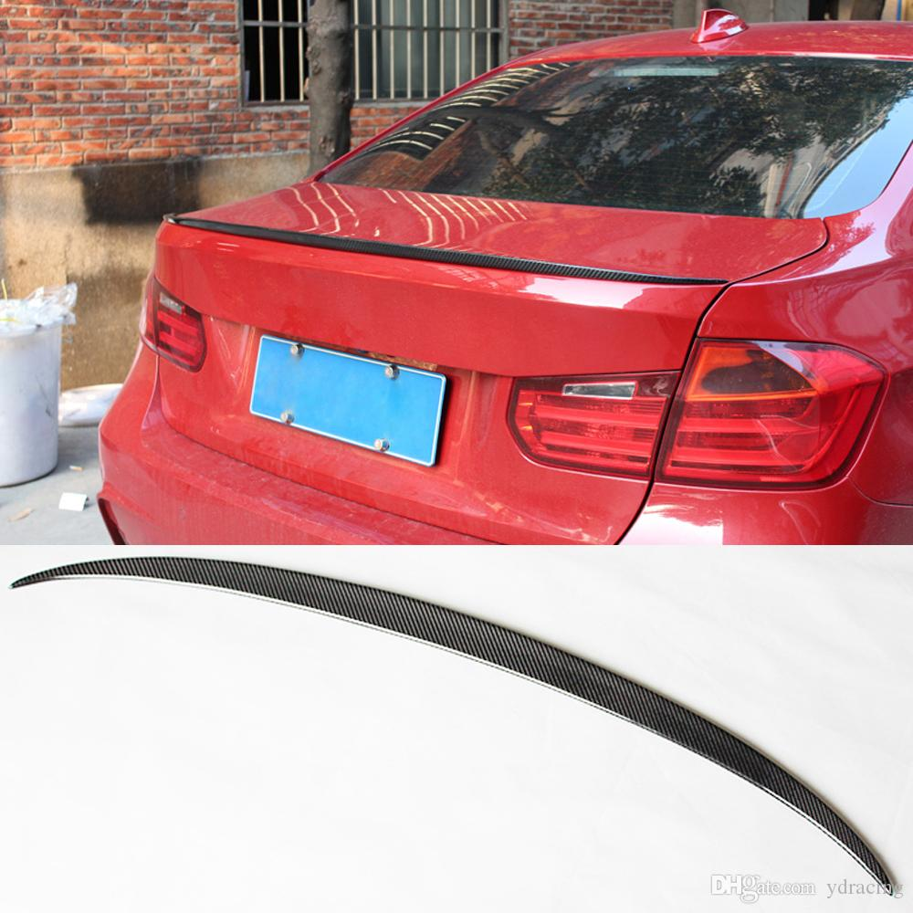 2019 M3 Styling Carbon Fiber Glossy Car Rear Spoiler Trunk Wings Lip