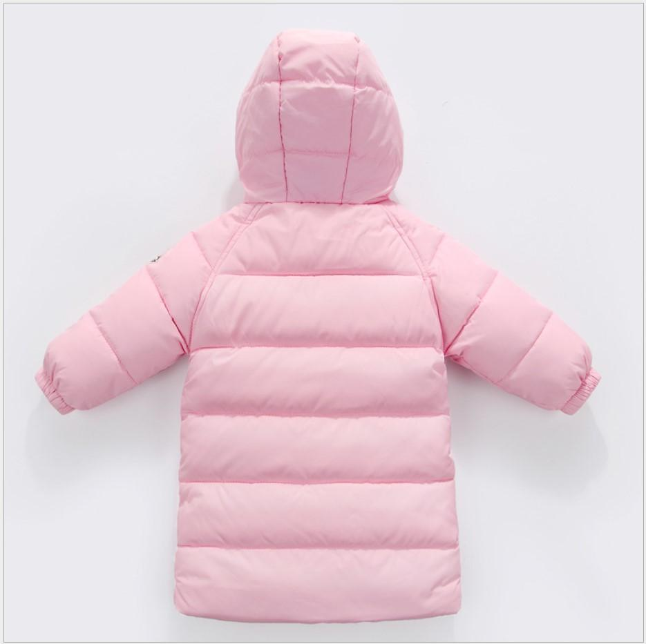 Children Clothing 2017 Winter Jacket For Kids Girl Long Down Jacket Red Pink New Year Costumes Hooded Toddle Boy Jacket 3 Years