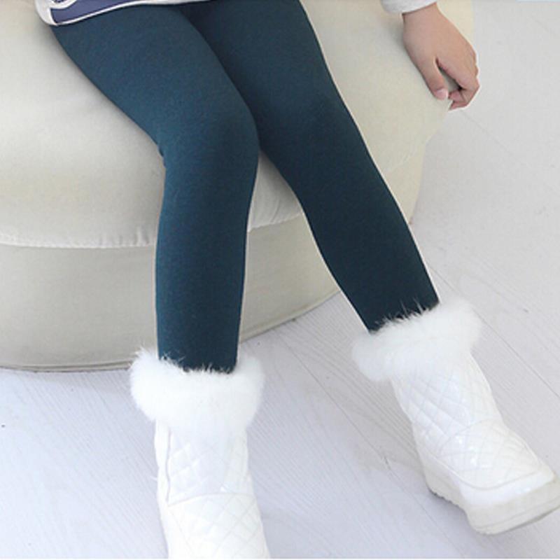 Crianças Inverno Meninas Leggings Crianças Calças Do Bebê Grosso Quente Elástico Na Cintura Leggins Moda Além De Veludo Leggings Calças Meninas Crianças