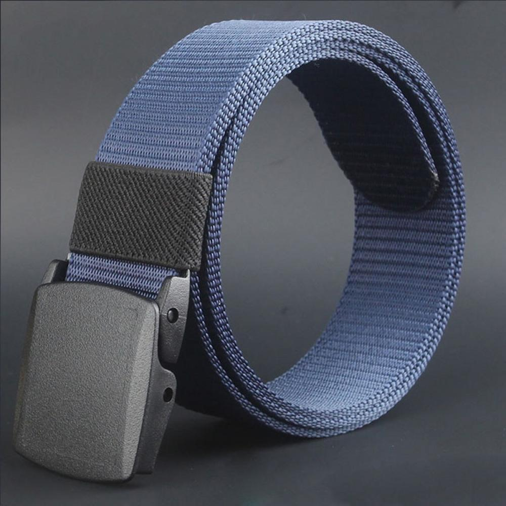 free Men #4066D Canvas Plastic Hypoallergenic Buckle Belt Automatic Wild Metal Mooistar