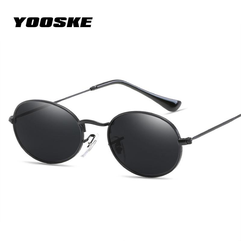 c7e3e8fd63 YOOSKE Retro Small Round Sunglasses Women Fashion Brand Designer ...