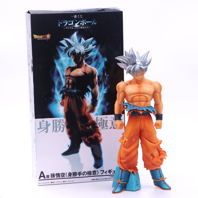 Cheap Action & Toy Figures New Dragon Ball Z Super Saiyan Sun Goku PVC Action Figure msp White god Goku Figure Collectible
