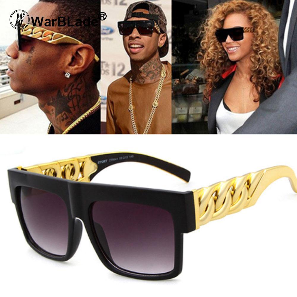 c82b8b20caba WarBLade 2018 Fashion Gold Metal Chain Kim Kardashian Beyonce Sunglasses  Vintage Hip Hop Sun Glasses Gafas De Sol UV400 Round Glasses Designer  Glasses From ...