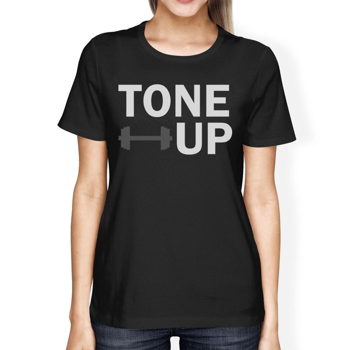 Womens Tee Tone Up Womens T Shirt Work Out Cute Graphic Printed