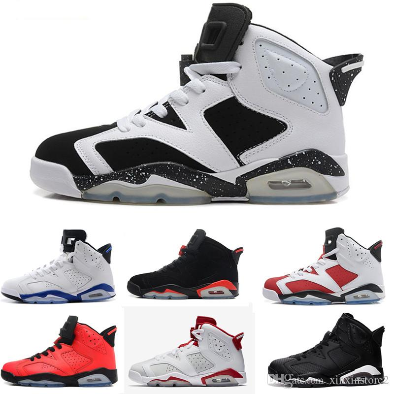 9499a5265035df 2019 6 Carmine Basketball Shoes Classic 6s UNC Black Blue White Infrared  Low Chrome Women Men Sport Blue Red Oreo Alternate Oreo Black Cat 000202  From ...
