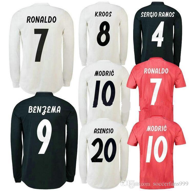 a47939f75 18 19 Real Madrid Women Soccer Jerseys Home Away 2018 2019 BALE ...