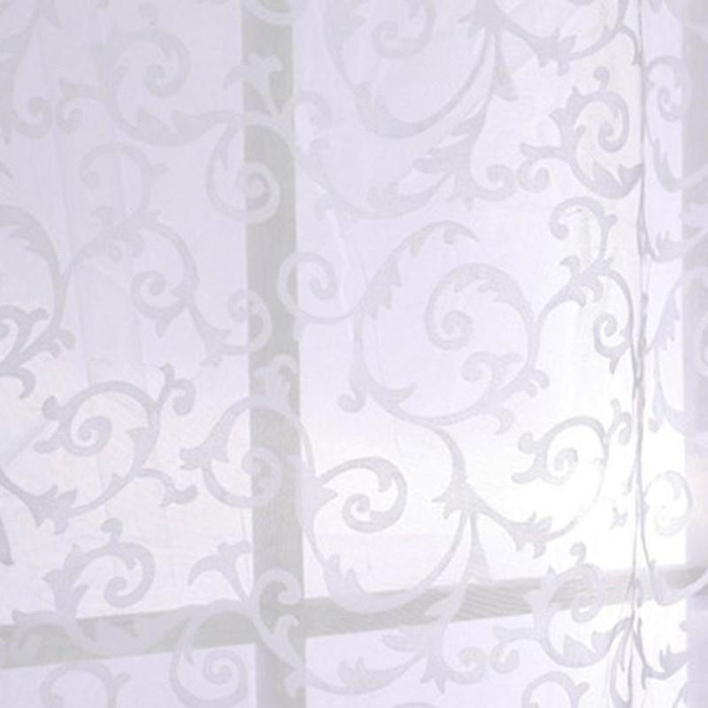 Мягкий Полиэстер Белый Вуаль Занавес Драпировка Прозрачная Панель Окна Комнаты Делитель Sheer Занавес Тюль Главная Комната Текстильные Ткани