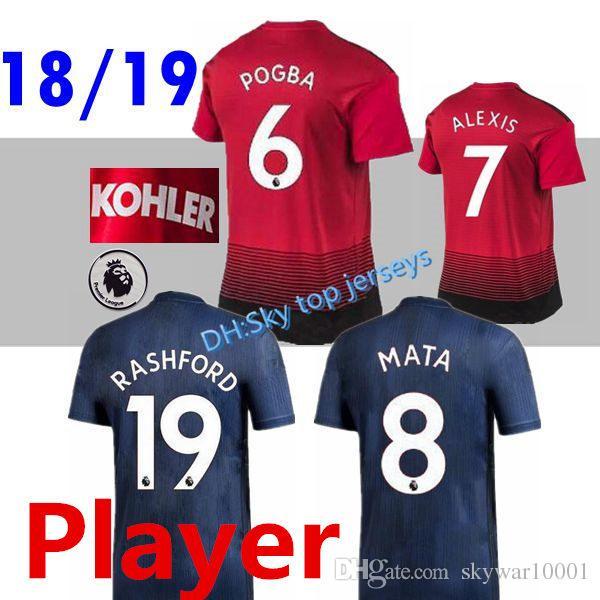 ba6ae286949 PLAYER VERSION 18 19 ALEXIS LUKAKU Fred Soccer Jerseys 2018 2019 MaN ...