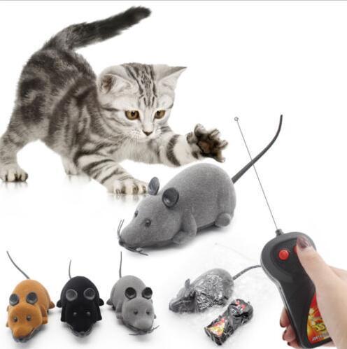 Souris fausse de jouet drôle de jouet dans la cage pour le chat de compagnie PV