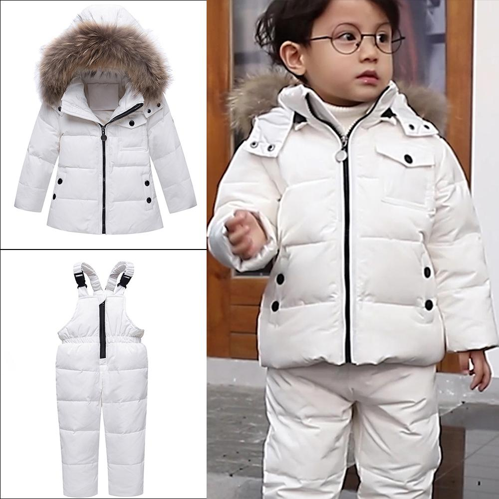 ed20eee89 Winter Children Girls Clothing Sets Warm Hooded Duck Down Jacket ...