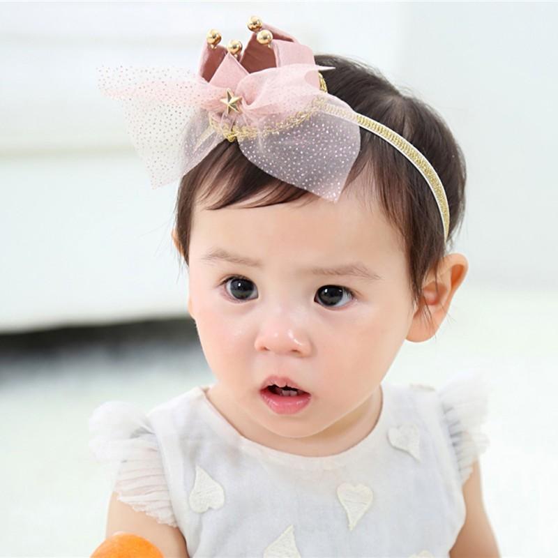 Großhandel Baby Mädchen Krone Stirnband Kinder Tiara Vintage ...