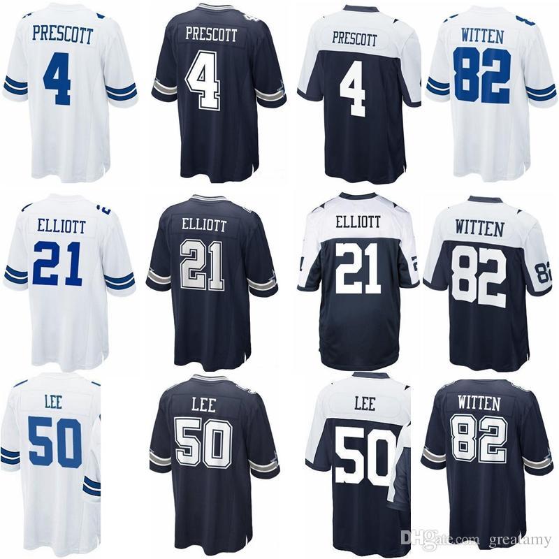 ... usa 2018 dallas jersey cowboys 4 dak prescott 21 ezekiel elliott 50  sean lee 82 jason bdf46862f