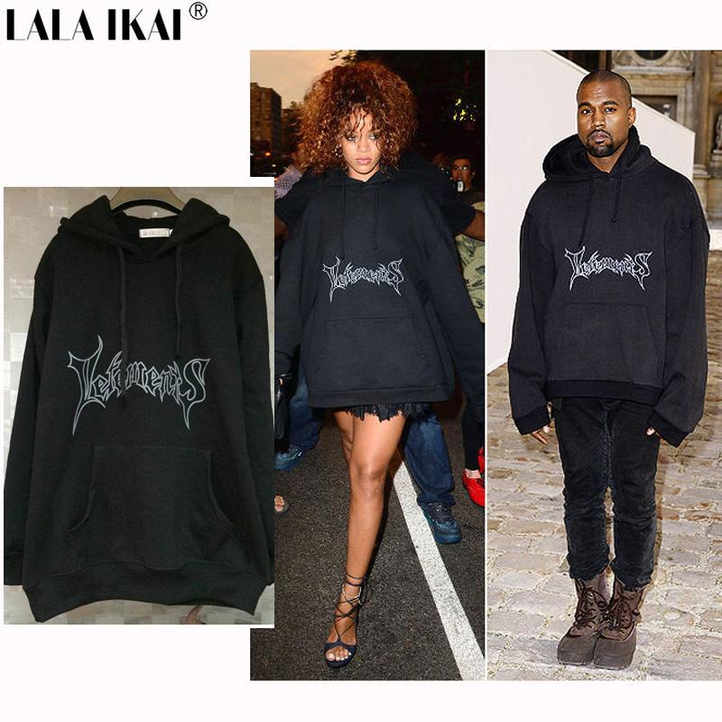 Letements Oversized Hoodies Men Hooded Letter Vetements Kanye West Cotton  Sweatshirts Men Swag Tyga Justin Bieber Free Drop Shipping UK 2019 From  Btshop 424f904a2