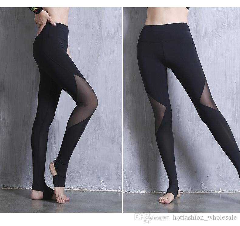 8e05a7aca57cee 2019 Wholesale 2018 New Design Leggings For Women Best Yoga Fitness Running  Gym Stretch Sports Pants High Projectile Tight Trousers From ...