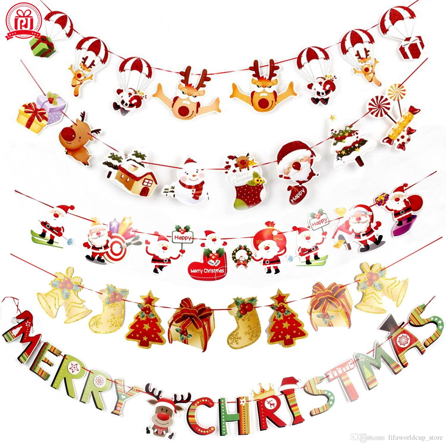 banners wall hangings christmas decorations clearance ornaments pendant xmas ornaments merry christmas decorations indoor for home christmas decorations - Christmas Decorations Clearance Online