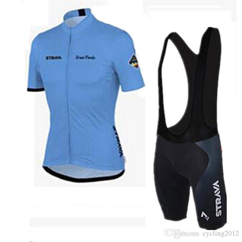 ropa ciclismo 2018 STRAVA Cycling Short Sleeves jersey bib shorts sets kit Mens tour de france clothing outdoor mtb bike sportswear F1101