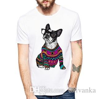227c0ef7 Fashion Hipster Frenchie/Yakuza Summer Pug/T Shirt Casualtops Hipster  Cartoon Tattoo Pug Printed Funny T Shirts Animal Cool Tee Best T Shirt Shop  Online ...