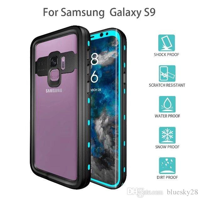new products ac62a b7674 IP68 Waterproof For Samsung Galaxy S9 S9 Plus Waterproof RedPepper  Shockproof Case Bag Underwater 3 Metres Free DHL Shipping