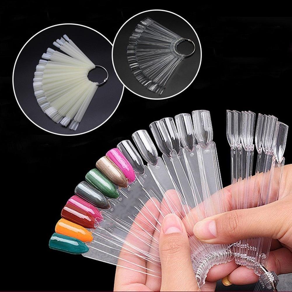 False Display Nail Art Fan Wheel Polish Practice Board Tip Sticks