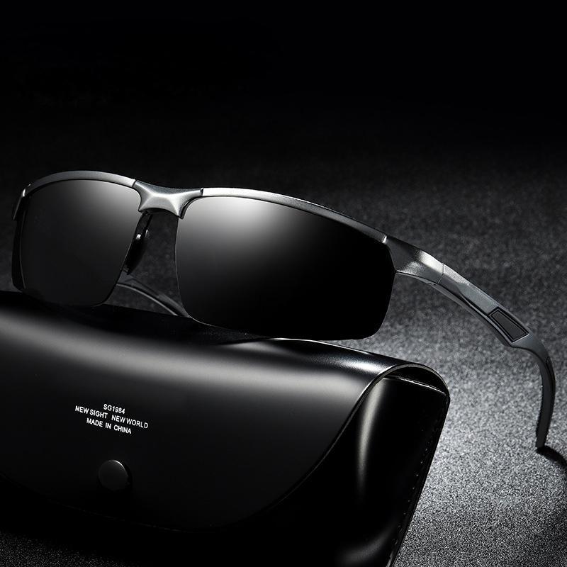 6cd276d563 2018 New Men s Aluminum Magnesium Polarizing Half Frame Sunglasses Men s  Classic Sports Glasses Sunglasses Men Fashion Best Sunglasses For Men  Vuarnet ...