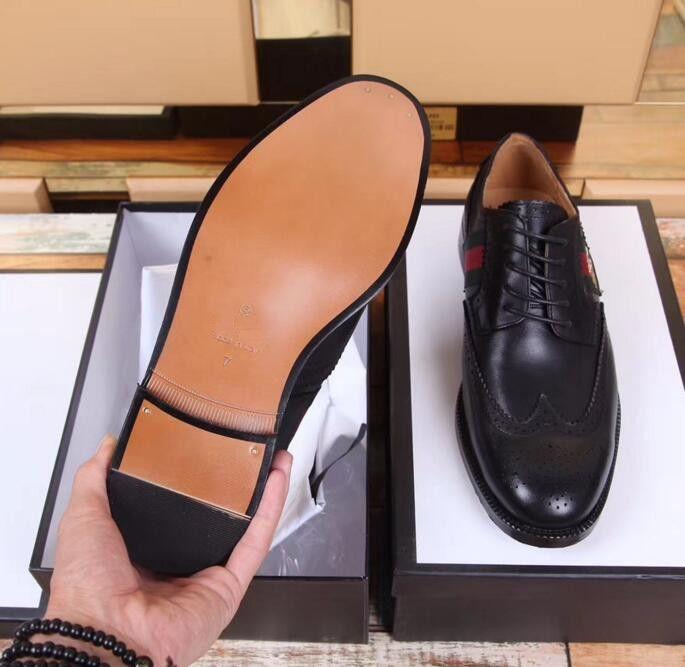07a5ce6f Compre 2019 Italian Luxury Brand Formal Dress Zapatos De Los Hombres De  Cuero Genuino Brogue Business Classic Wedding Party Para Hombre Zapatos De  Oxford ...