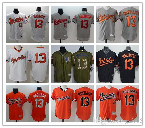 6747051de25 2019 Custom Men S Women Youth Majestic Baltimore Orioles Jersey  13 Manny  Machado Home Orange Grey White Kids Girls Baseball Jerseys From Gzf606
