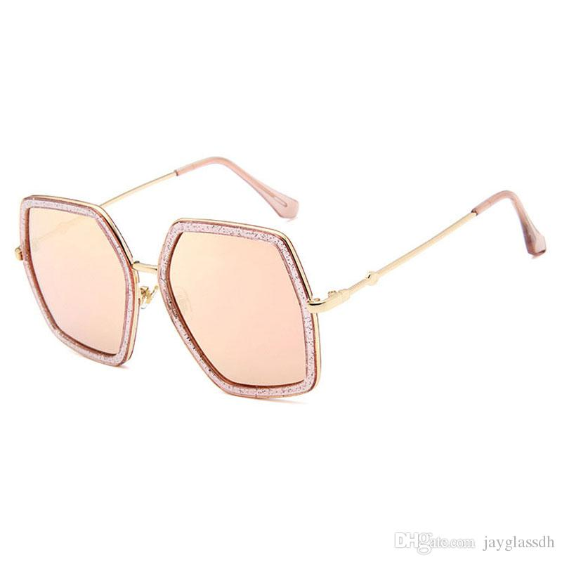 2580d8c0a7 2018 Square Luxury Sun Glasses Brand Designer Ladies Oversized Crystal  Sunglasses Women Big Frame Mirror Sun Glasses For Female UV400 Electric  Sunglasses ...