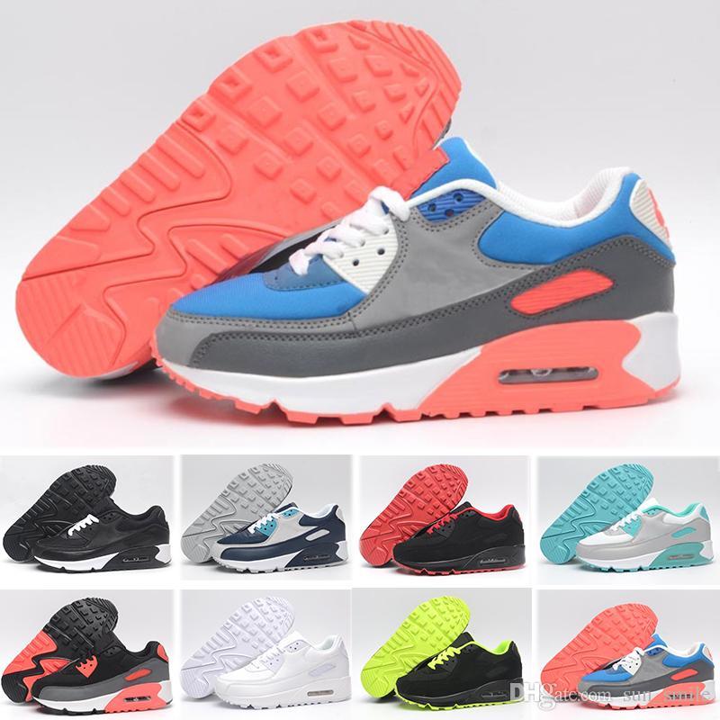 newest 8c5ba 9c2af Acheter Nike Air Max 90 87 97 98 95 Hommes Blanc Noir 90s Pour La Vente  Maxes Og 90 Chaussures De Plein Air Coussin Espadrilles Marque De Luxe  Tideway ...