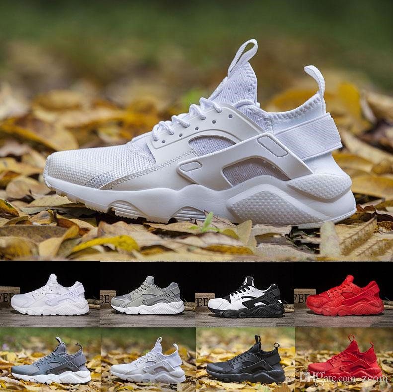 c124925406334 Air Huarache Ultra Running Shoes Triple White Black Huraches Running  Trainers For Men Women Outdoors Shoes Huaraches Sneakers Hurache Spikes  Shoes Best ...