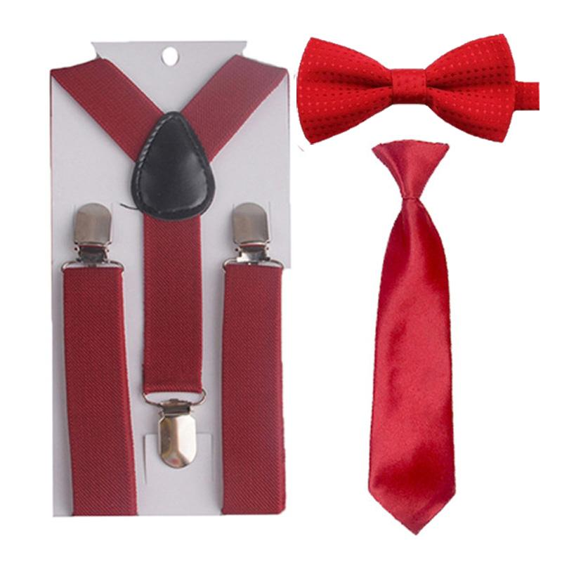 d48f277ce4b1 Children Kids Toddler Suspenders Y-Back Braces Necktie Wine Red ...