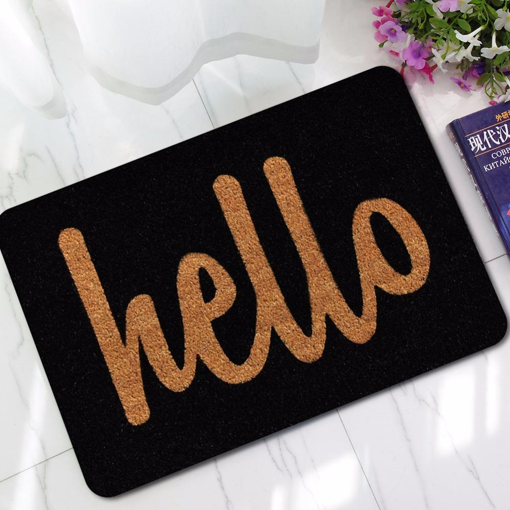 New Black Doormats Funny Sign Hello Home Decorative Door Mats Magic Welcome  Floor Mats Front Porch Rugs Gy77 Oversized Outdoor Cushions Inexpensive  Outdoor ...