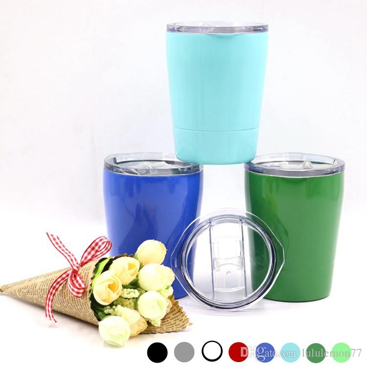 863257415cf 8.5oz Stainless Steel Tumbler Cups Travel Cup Vehicle Beer Mug Non ...