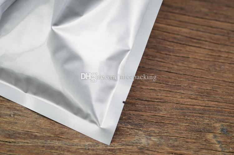 small size of silver pure aluminum foibag for tea/coffee bean/powder packing heating seal bag/pouch 10 size in total