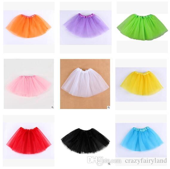 Baby Girl Skirts Tulle Tiered Girls Tutu Skirt Pleated Clothes for girls Babies Dress Clothes Best Gifts Kids Clothing DHL Free shipping