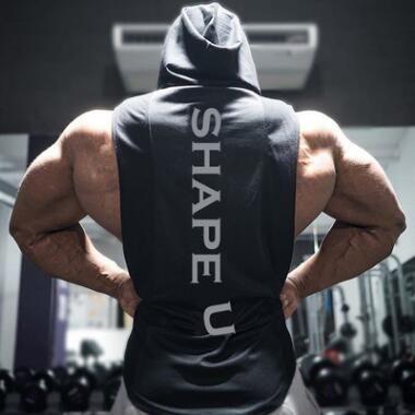 1becb53b5ad03c Neue Turnhallen Kleidung Fitness Männer Tank Top mit Kapuze Mens  Bodybuilding Stringer Tank Tops Training unterhemden Ärmellose Shirts